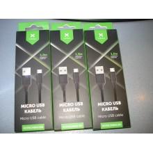 Дата кабель USB 2.0 AM to Micro 5P nylon 1m black Vinga (VCPDCMBN21BK)