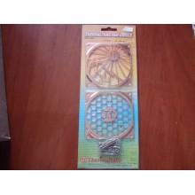 Защитная решетка на вентилятор ThermalTake Fun Grille, A1457, 80x80 .Набор из 2 шт.
