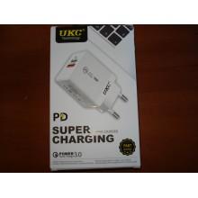 Адаптер Fast Charge 220v 18w APD 889 USB + type C