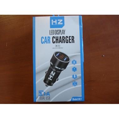 Зарядное устройство автомобильное Car Charger HZ HC7 3.1A, черный