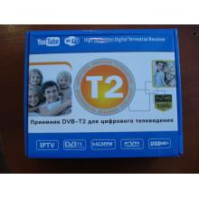Цифровой тв тюнер приставка Т2 DVB-T2 U006 METAL с поддержкой wifi адаптера (с экраном)