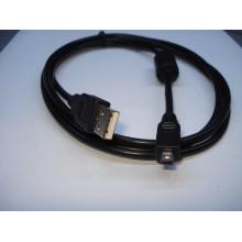 Шнур компьютерный разъем USB А - штекер miniUSB 4pin typeA, v.2.0, с фильтром, диам.-3,5мм, 1,5м
