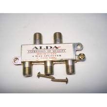 Сплиттер (Splitter) ТВ 4-way, корпус металл , Alda