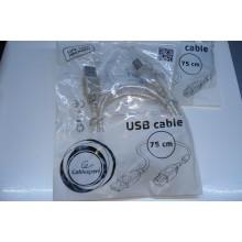 Кабель для принтера USB 2.0 AM / BM 0.75m Cablexpert