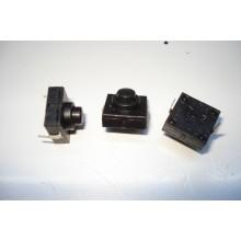 Кнопка для фонарика 12x12x9,4 с фиксацией ON-OFF 2 pin 112D