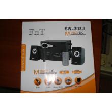 Колонки компьютерные FnT SW-303U с пультом Bluetooth / USB Черные