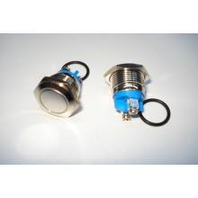 Кнопка антивандальная PBS-28B без фиксации (OFF- (ON)) 16мм, 2-х контактная, 220V, под винт (плоская),
