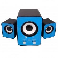 Колонки для ПК H1 USB  2.1 Hiraliy h1 mini цвет голубой