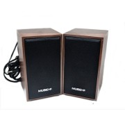 Колонки для ПК компьютера Music-F D-9A, светло-коричневые USB НОВЫЕ 220V