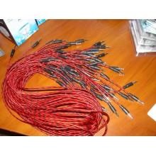 Шнур кабель AUX штекер 3,5стерео - штекер 3,5стерео, диам.-4.0мм, 1 м (tiger)