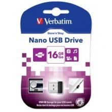 USB флеш накопитель Verbatim 16GB Store 'n' Stay Nano Black USB 2.0 (97464)