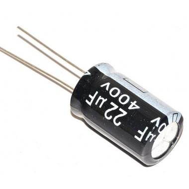 Конденсатор электролитический 22 uF 400 V, 105 °C, d13 h26 (1 шт.) 22 400 #5:16