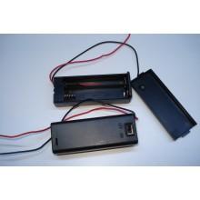 Отсек 1xAA-S для 1-х элемента AА, с проводами, закрытый корпус с выключателем