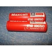 Аккумулятор BATTERY 18650 для электронных сигарет Maxcail 3000mAh