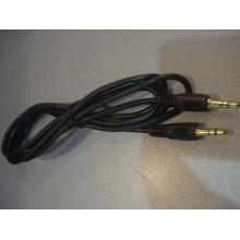 Шнур кабель AUX штекер 3,5стерео - штекер 3,5стерео, диам.-4.0мм, 1,5м