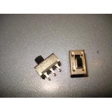 Переключатель движковый KBB45-2P2W ON-ON 6-и контактный, 0,5A, 250VAC