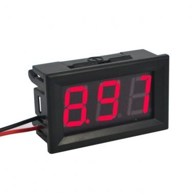 Вольтметр 4,5 - 30 V красный индикатор . переменная точка