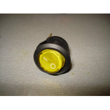 Кнопочный выключатель, диаметр 20.3 мм, желтый, с подсветкой KCD105 (1 шт.)