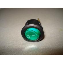 Кнопочный выключатель, диаметр 20.3 мм, зеленый, с подсветкой KCD105 (1 шт.)