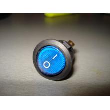 Кнопочный выключатель, диаметр 20.3 мм, синий, с подсветкой KCD105 (1 шт.)
