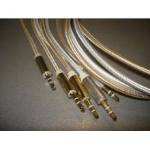 Шнур кабель AUX штекер 3,5стерео - штекер 3,5стерео, диам.-4.0мм, 1 м (черный)
