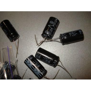 Конденсатор электролитический 6800 uF 16 V, 105°C, d16 h32 (1 шт.) 6800 16 #5:63 Арт.51628
