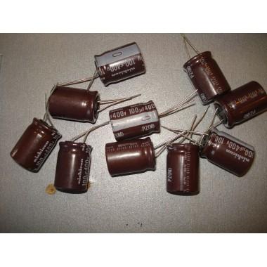 Конденсатор электролитический 100 uF 400 V, 105°C, d18 h26/nichicon/серия: PZ (M) (1 шт.) 100 400 #5:50 Арт.51630