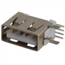 Гнездо USB тип A монтажное, угловое короткое (1 шт.)