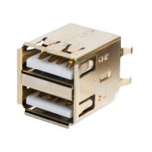 Гнездо USB тип A двойное, монтажное (1 шт.)