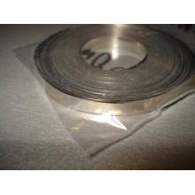 Лента стальная никелированная 0,1 х 6,0мм для сварки аккумуляторов, 1м