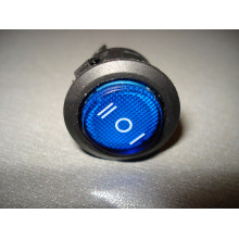 Кнопочный выключатель, трёхфазный, диаметр 20.3 мм, синий, с подсветкой (1 шт.)