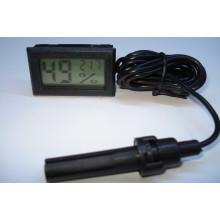 FY-12 Цифровой термометр-гигрометр с выносным датчиком влажности - зондом (чёрный)