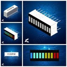10 сегментный светодиодный модуль индикатор DIP 4-х цветный прогресс бар (1 шт.) #H30