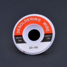 Лента оплетка для удаления снятия припоя медь 2 мм. длина 1,5 м (1 шт.) Zhongdi