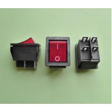 Кнопочный выключатель 28,5 х 22 мм, 15А 250V, цвет клавиши - красный (1 шт.) KCD2