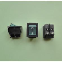 Кнопочный выключатель 28,5 х 22 мм, 15А 250V, цвет клавиши - синий (1 шт.) KCD2