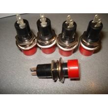 Кнопка PBS-16А без фиксации OFF-(ON) 2-х контактная, 1А, 250V, красная