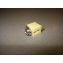Аудио разъем гнездо 3,5мм стерео монтажное, корпус пластик (1 шт.) #A3