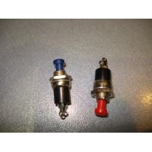 Кнопка малая PBS-10B-2 без фиксации OFF-ON 2-х контактная, 1А, 250V, цвета на выбор (1 шт.)
