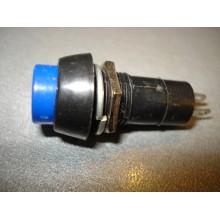 PBS-11A Кнопка 250V 1A 12mm (1 шт) #4:4 КНОПКА НАЖИМНАЯ, СИНЯЯ, БЕЗ ФИКСАЦИИ