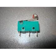 Микровыключатель 20х10х7мм с флажком и роликом L=19мм зеленый (1 шт.) #1:94