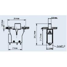 Переключатель движковый малогабаритный ПДМ1-1 (1 шт.) б/у