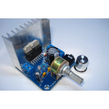 Модуль TDA7297 стерео аудио усилитель 2 x 15 Вт, 9-15 V с регулятором громкости