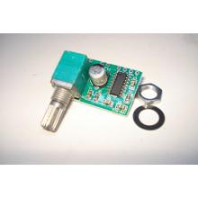 Модуль PAM8403 с регулятором громкости миниатюрный низковольтный аудио усилитель D-класса 2x3 Ватт 2,5-5 Вольт