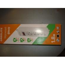 Сетевой фильтр питания Greelite 3 розетки SP3 (1,8 м)
