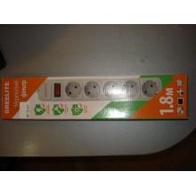 Сетевой фильтр питания Greelite 5 розеток SP5 (1,8 м)