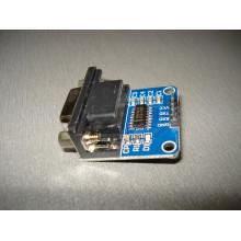Преобразователь RS232-TTL двунаправленный на MAX3232, разъем DB9 Модуль (1 шт.) #M10*