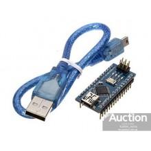 Arduino Nano V3.0 AVR ATmega328P с кабелем mini-USB и распаянными разъёмами  (1 шт.) #1:42