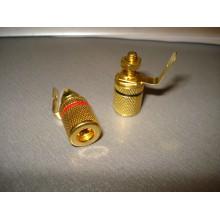 Гнездо акустическое Banan монтажное, gold, корпус металл (1 пара)