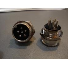 Разъём MIC 336 big (штекер), монтажный, 6pin, диам.-20мм